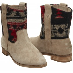 TOMS - Desert Taupe Suede Tribal Wm Laurel Boot
