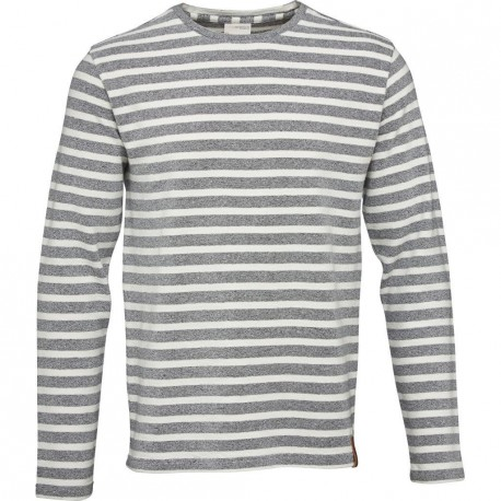 Knowledge Cotton Apparel - Two. Col. Striped Long Sleeve Tee