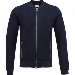 Knowledge Cotton Apparel - Diagonal Zip Cardigan