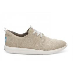 Toms - Ntrl Metallic Linen Wm Dlrey Sneak