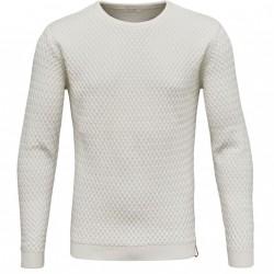Knowledge Cotton Apparel -  Small Diamond Knit - GOTS