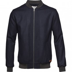 Knowledge Cotton Apparel - Bomber wool jacket