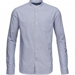 Knowledge Cotton Apparel - Stand Collar Oxford Shirt - GOTS
