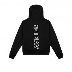 AVNIER - Vertical back black hoodie