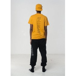 AVNIER - Vertical back dark orange tee shirt