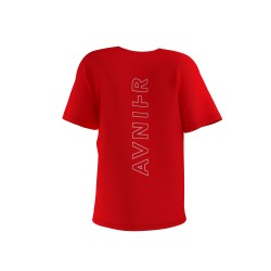 Avnier - Vertical back red tee shirt