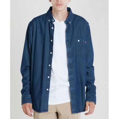 Nouveau Hommes Lee Brooklyn Jeans One Laver coupe régulière bleu foncé denim jambe confort