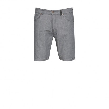 loreak mendian - BERMUDAS ESCAPE GRAFIT LYCRA DENIM RINSED 3D